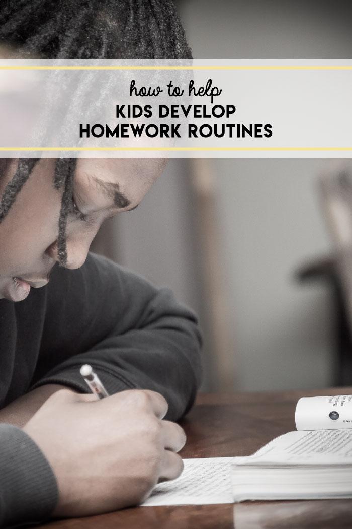 8 tips to help kids develop homework routines