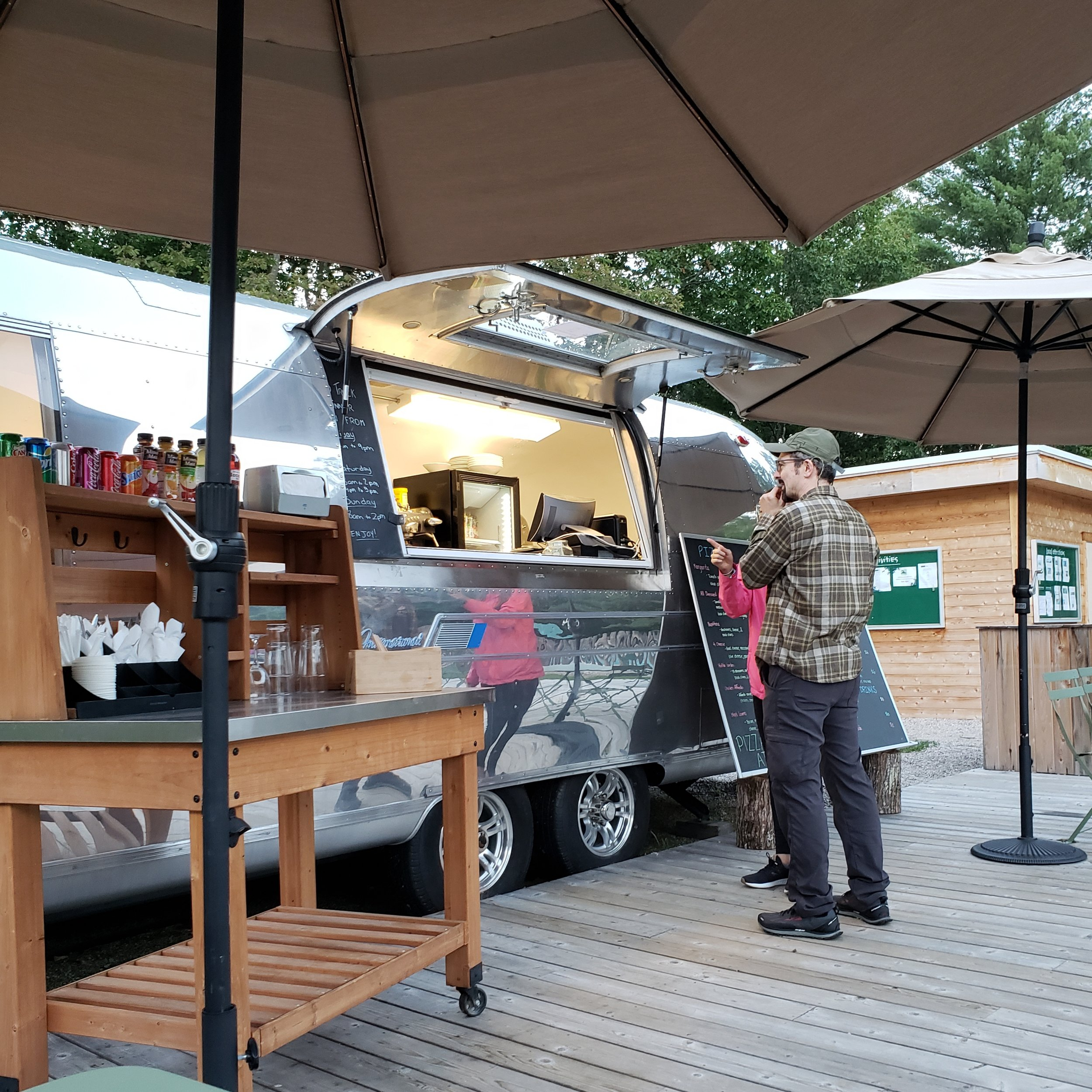 I ordered ALL THE FOOD AND BEVERAGES from the Huttopia Airstream!