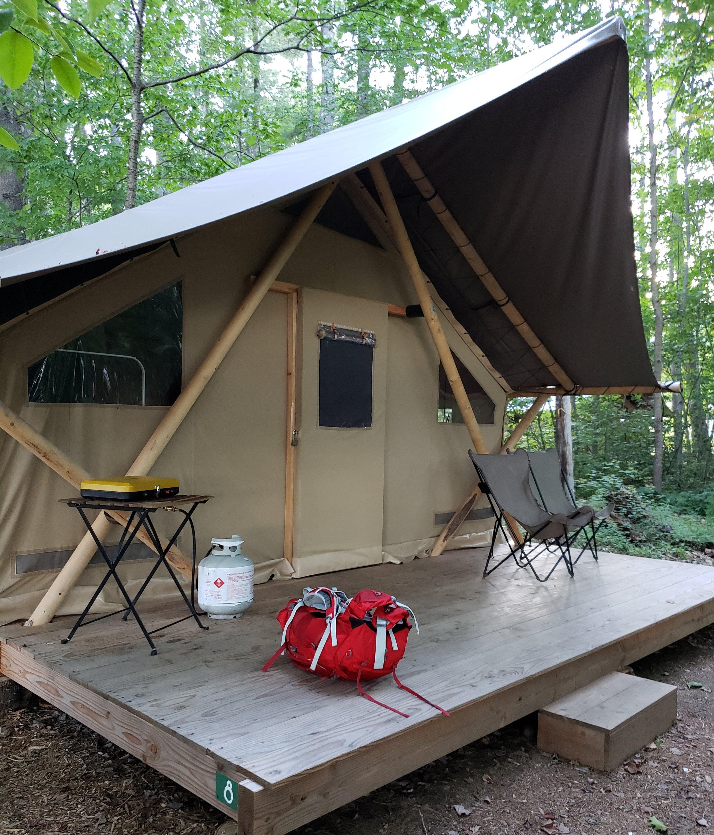 Huttopia Trappeur tent #8