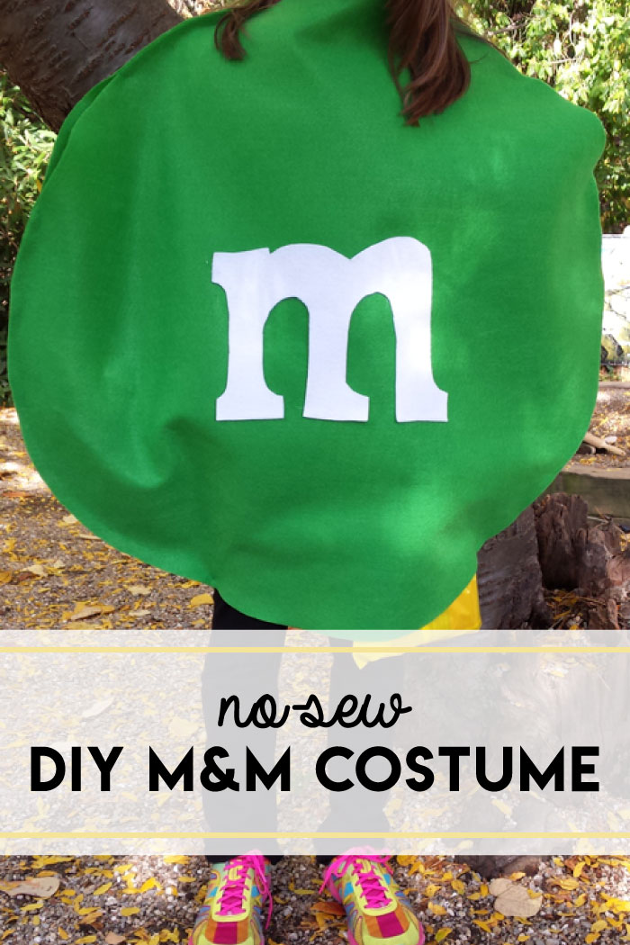 No-sew DIY M&M costume