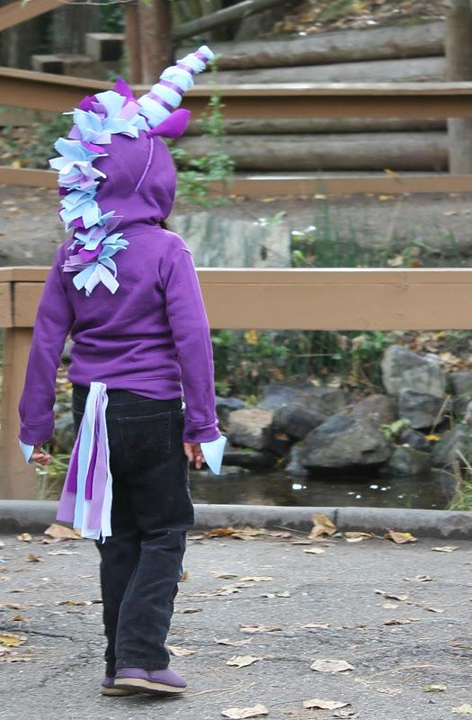 No-sew unicorn hoodie