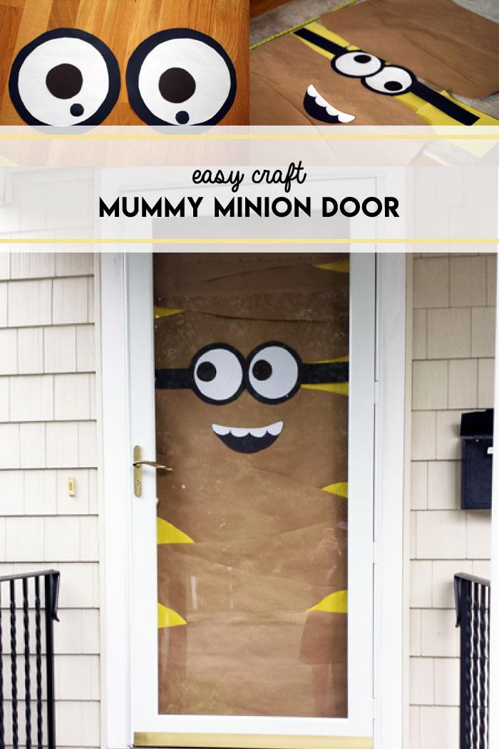 Mummy minion door DIY