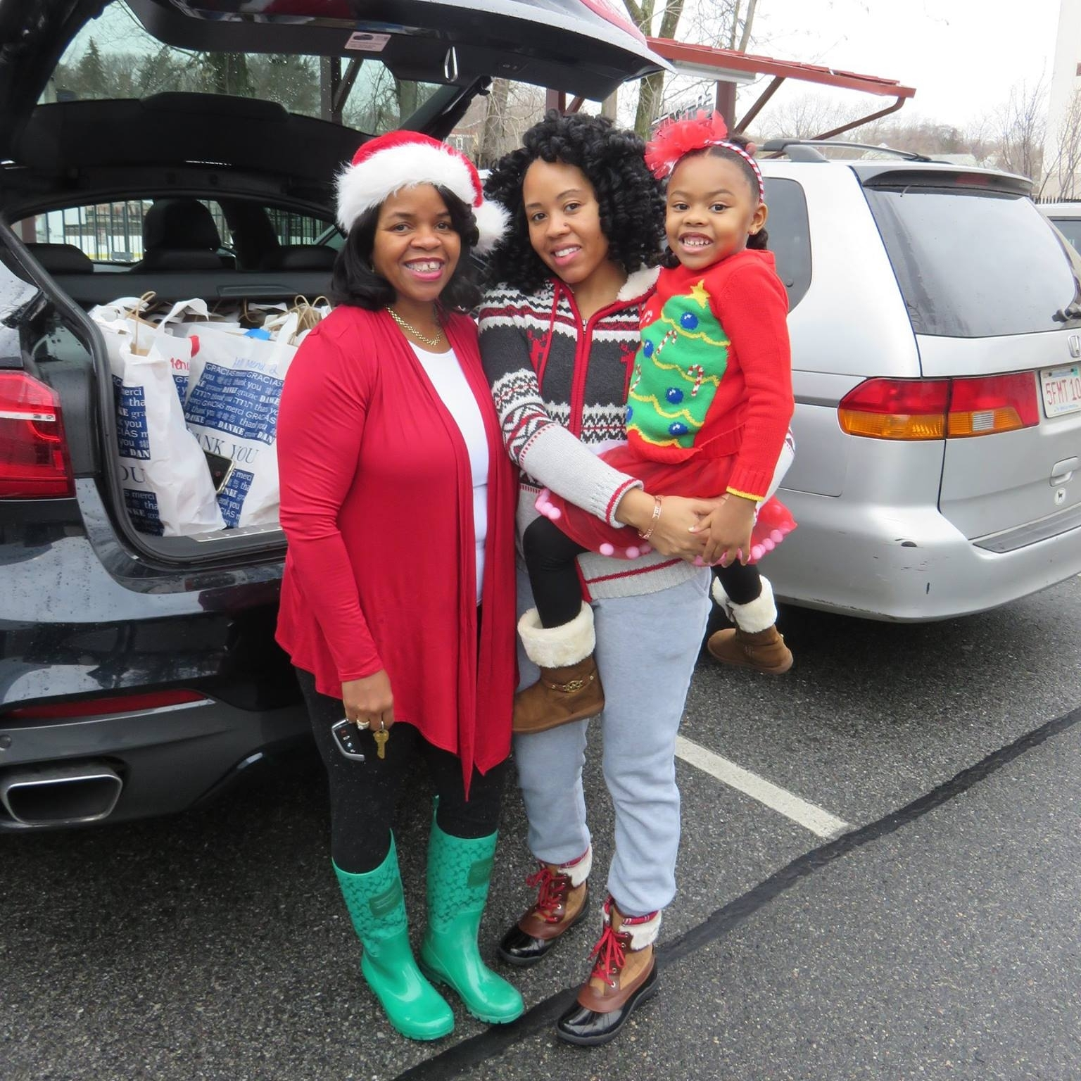 High fives to this local family that volunteers every December for Holiday Meal Delivery