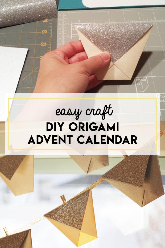 DIY origami advent calendar