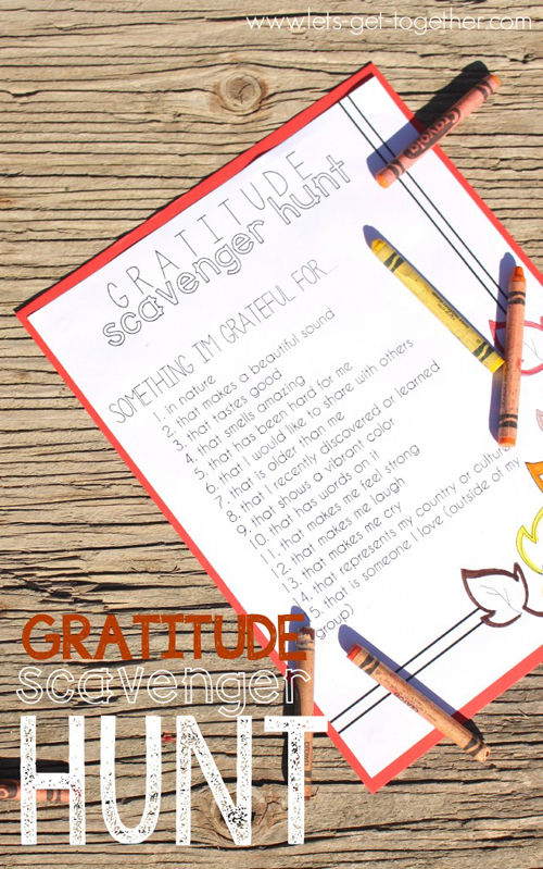 10 free Thanksgiving printables: Gratitude scavenger hunt
