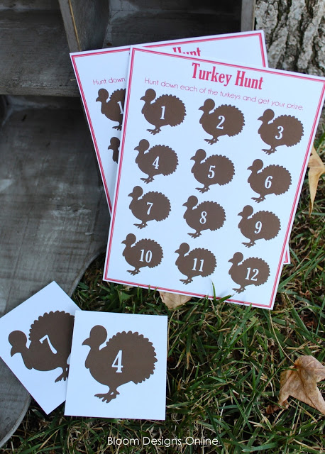 10 free Thanksgiving printables: Turkey hunt