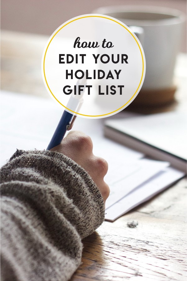 How to edit your holiday gift list