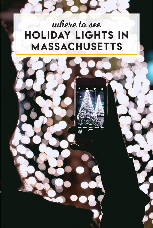 Where to see holiday light displays in Massachusetts