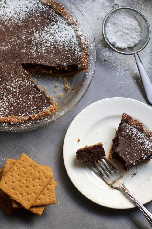 Fudgy brownie pie via The Baker Chick