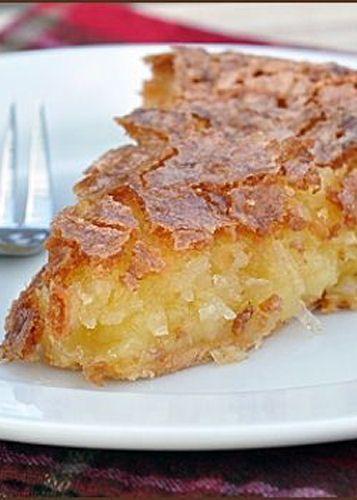 French coconut pie via Tasty Kitchen