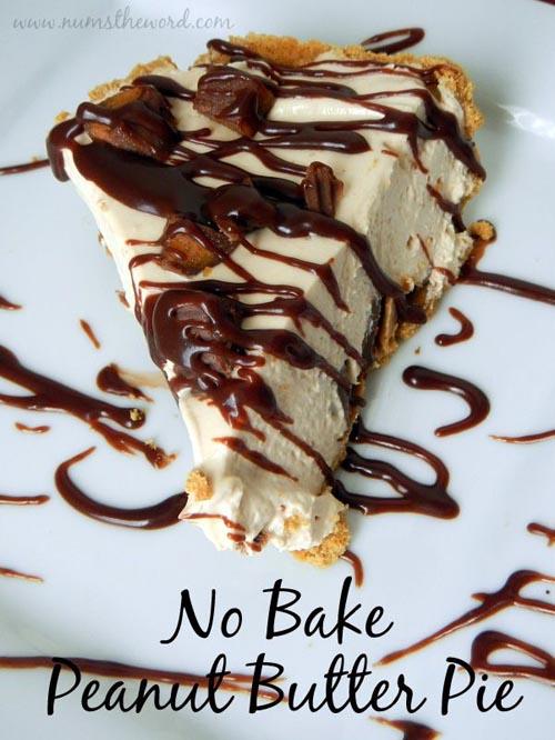 No-bake peanut butter pie via Num's The Word