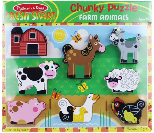 Melissa & Doug farm animals puzzle for toddlers