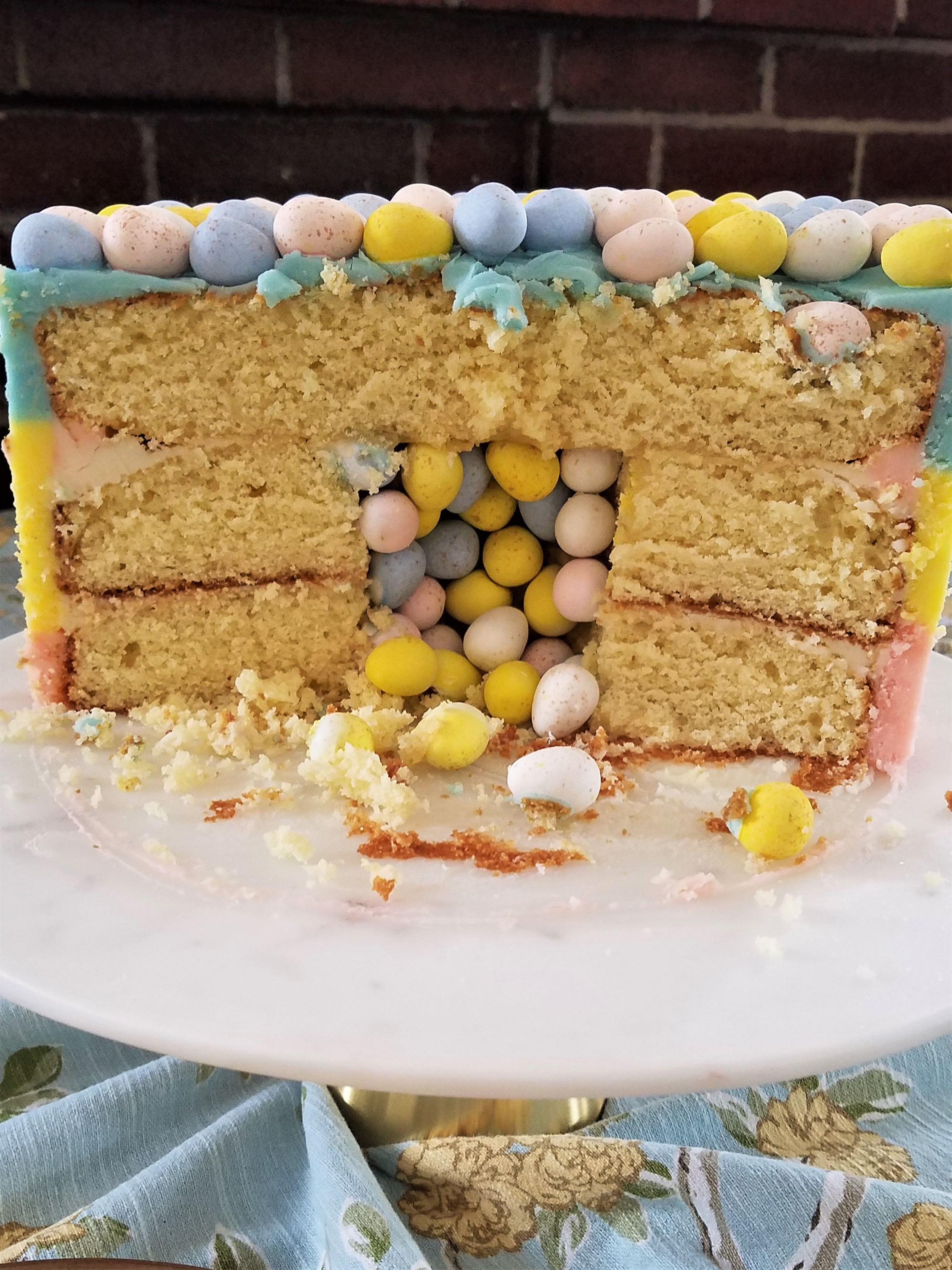 How To Make An Ombré Easter Cake: The surprise inside!