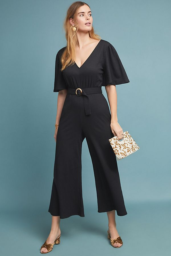 Margaret Belted Jumpsuit; image by Anthropologie