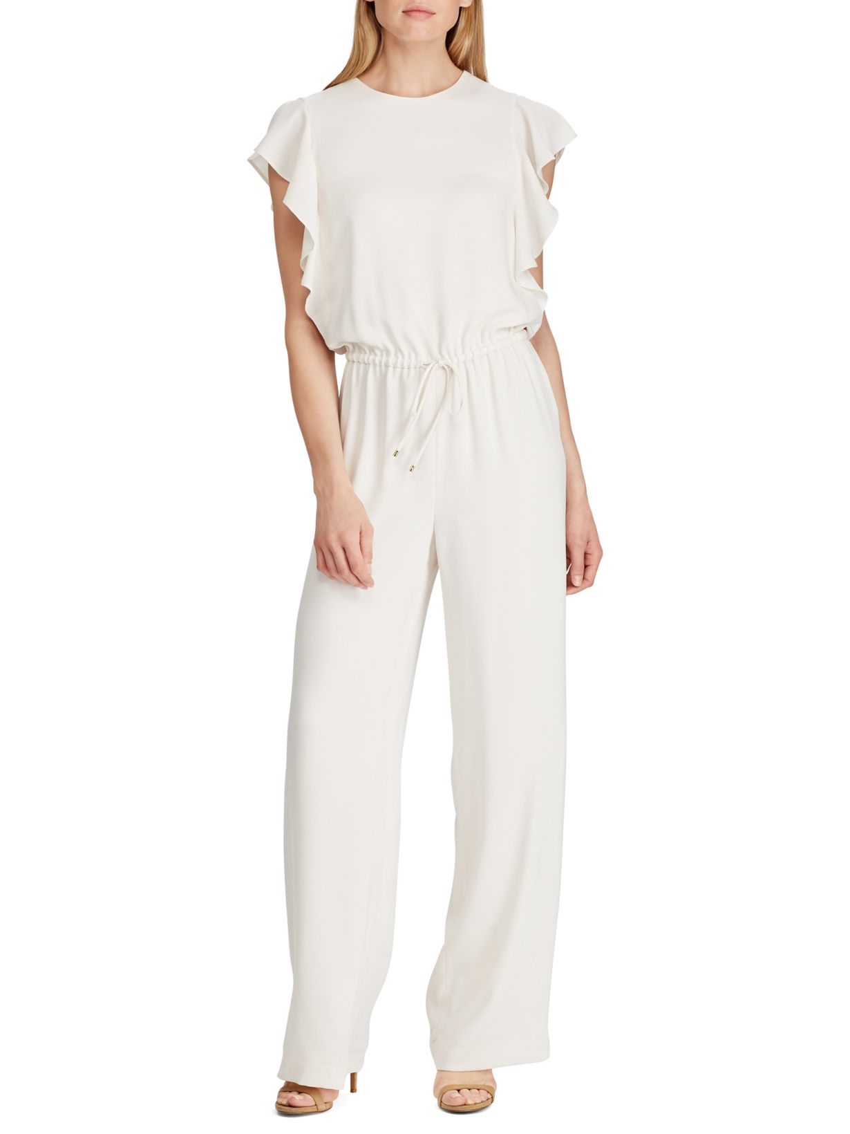 Ralph Lauren Ruffle-Trim Twill Jumpsuit; inage by Lord & Taylor