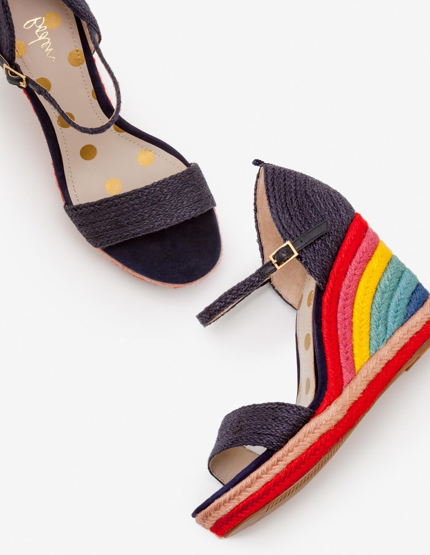 Rainbow espadrilles; image via Boden