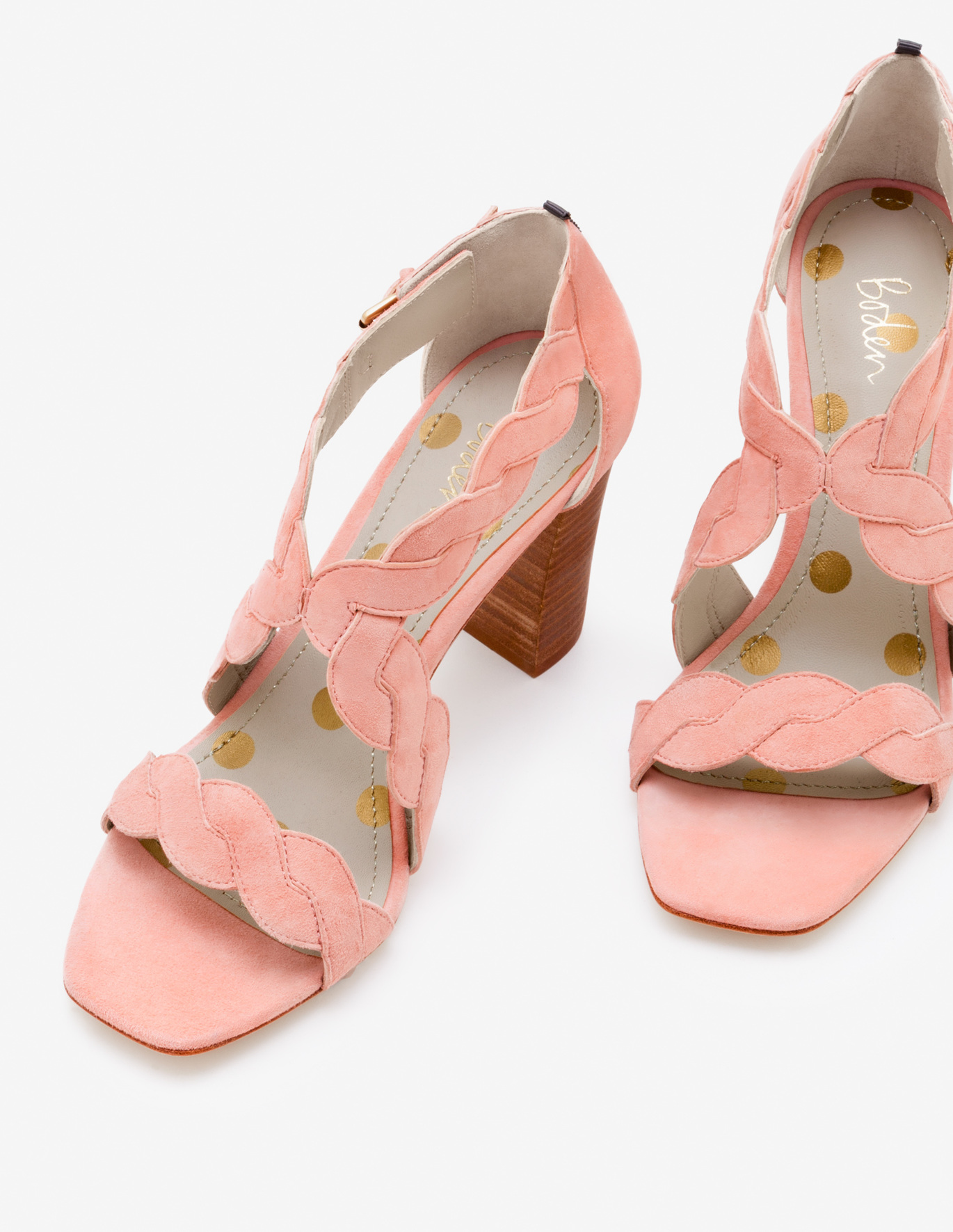 Boden Rosalie heels in chalky pink; image via Boden