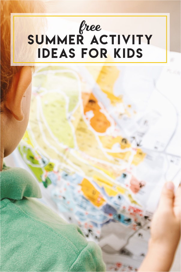 Free summer activity ideas for kids