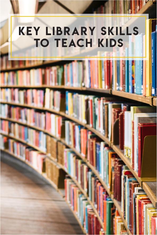 Key library skills to teach kids