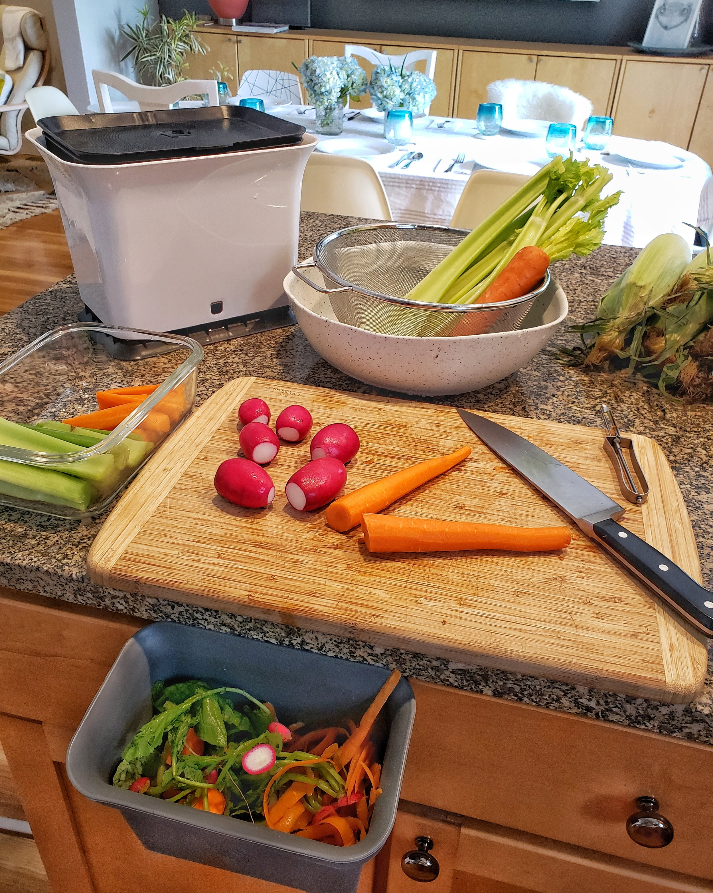 Classic Christine Koh produce prep before a dinner party!