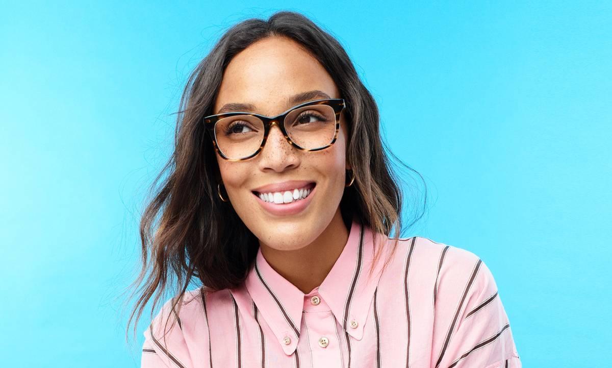 Warby Parker glasses; image via Warby Parker