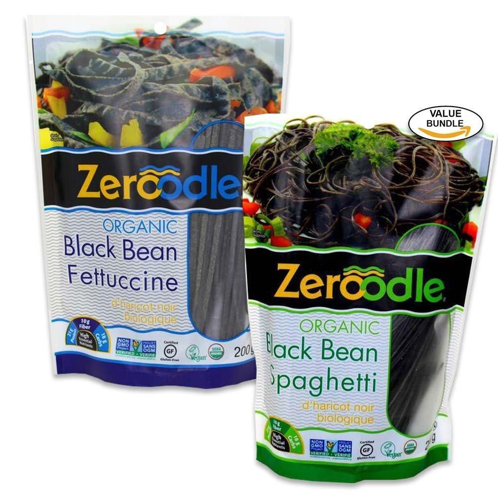 "Zeroodle black bean ""pastas""; image via Amazon"
