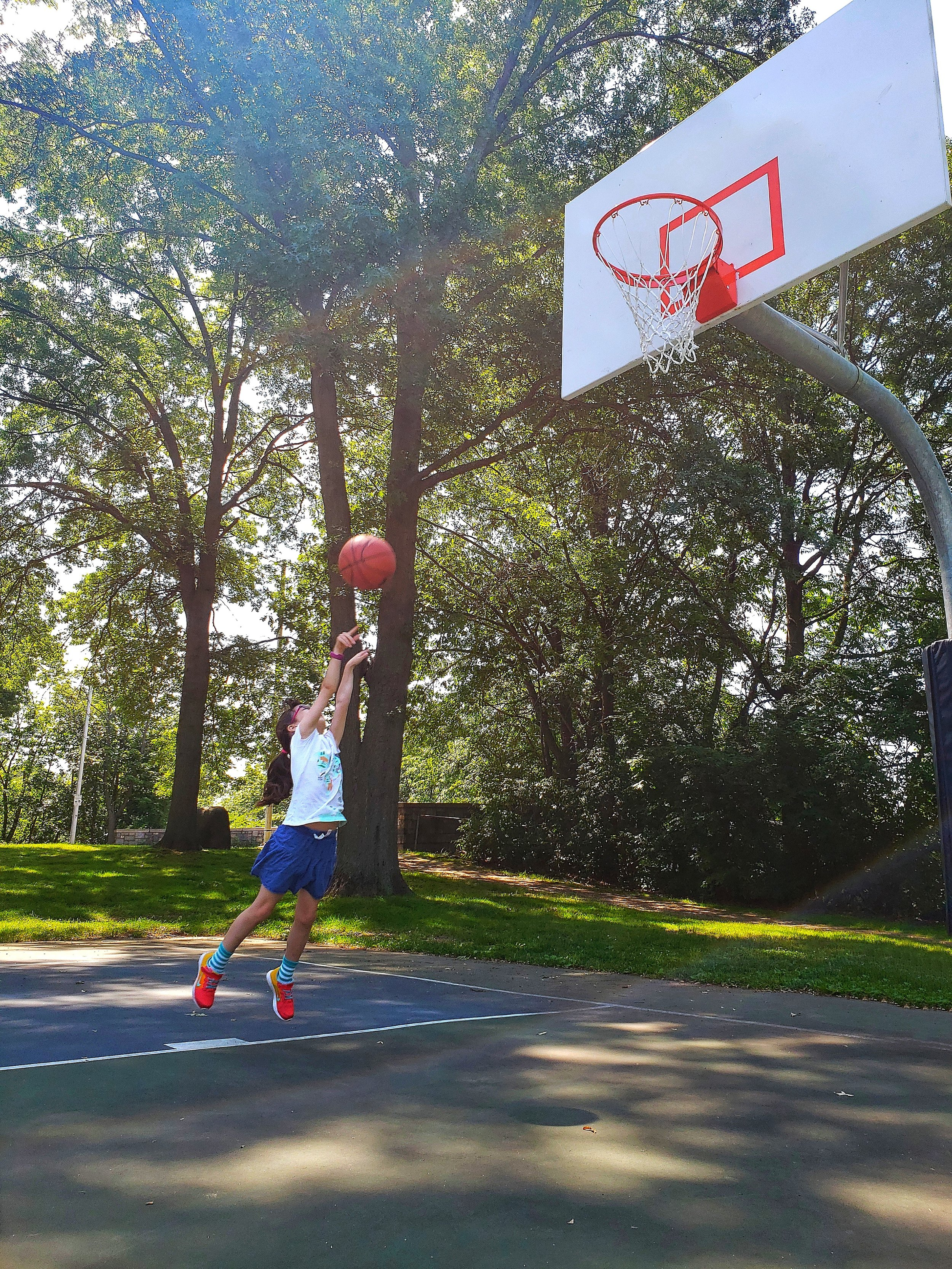 Violet discovered her love of basketball this summer…and even got me to shoot a few hoops