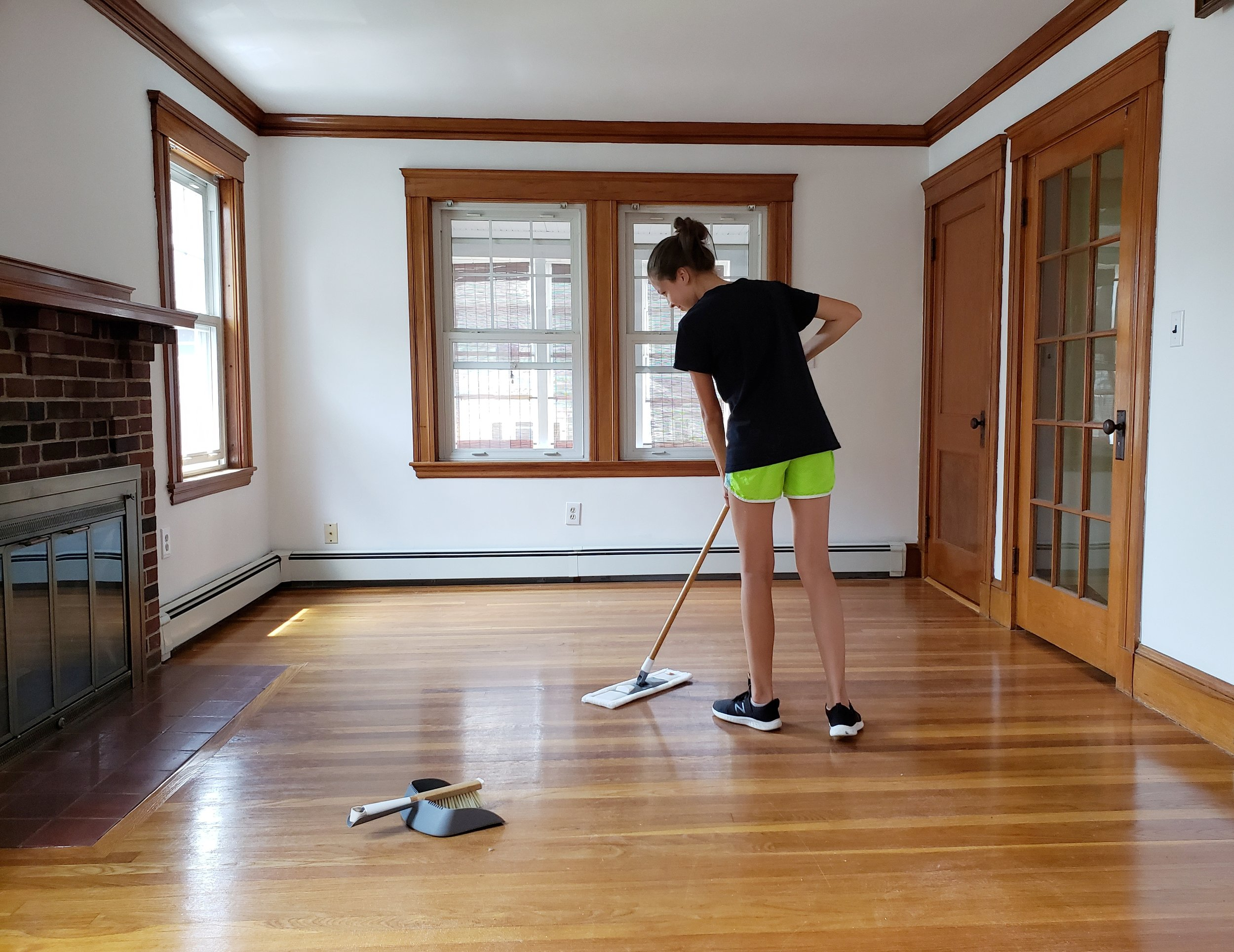 Sweeping is a super easy yet high impact cleaning skill to teach kids!