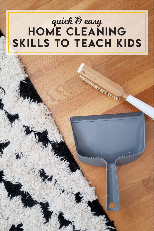 Quick and easy home cleaning skills to teach kids