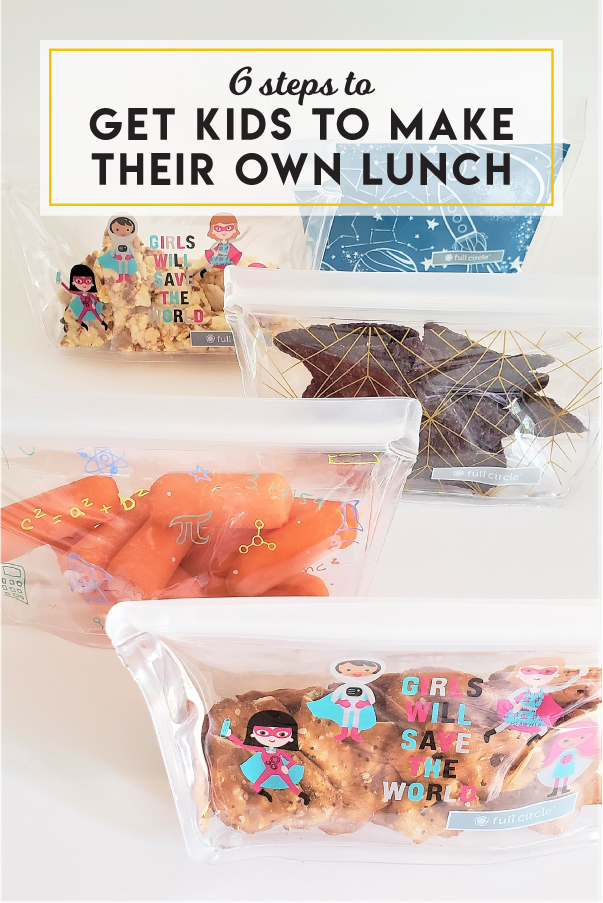 6 steps to get kids to make their own lunch