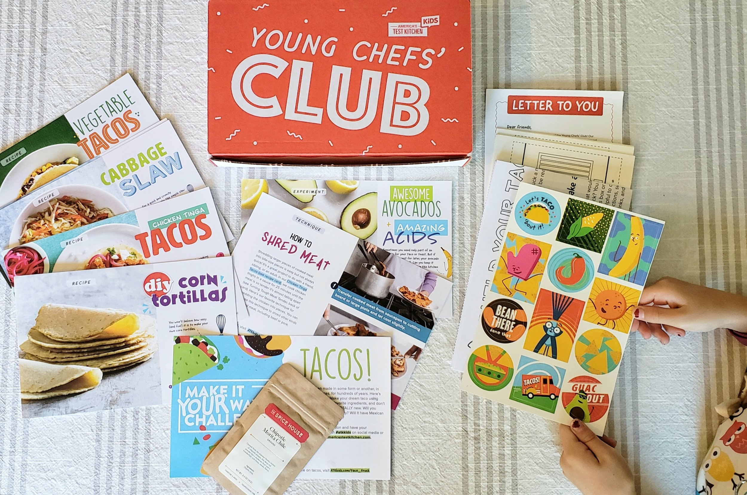 Adorable taco-themed cooking kit from America's Test Kitchen Kids' Young Chefs' Club