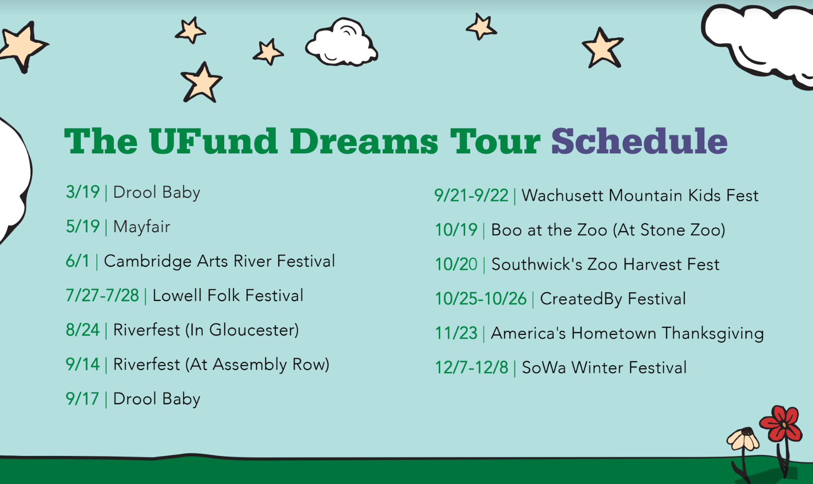 U.Fund Dreams Tour 2019 Schedule