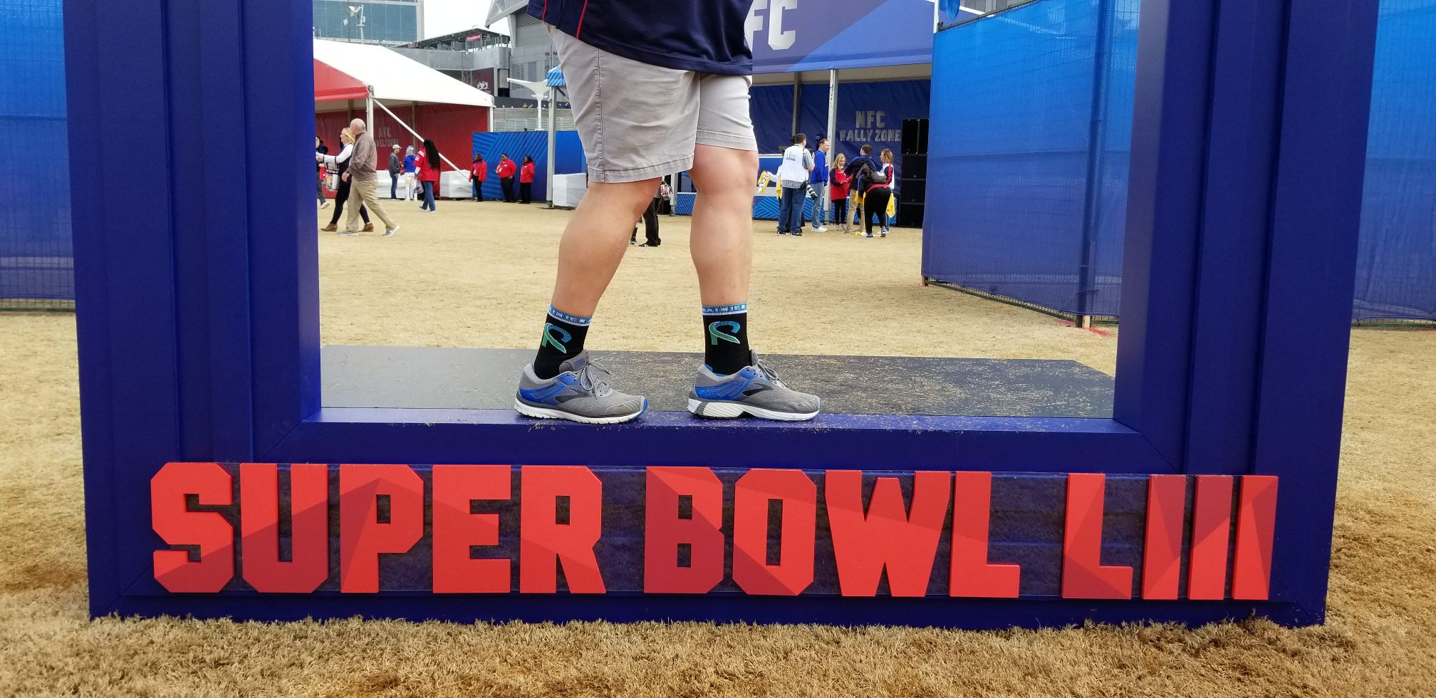Arthur, CEO of Learning Professionals, loves the Rainier Athletes partnership so much that he brought us to the the Super Bowl! Well, kind of... Check out those fresh RA socks!