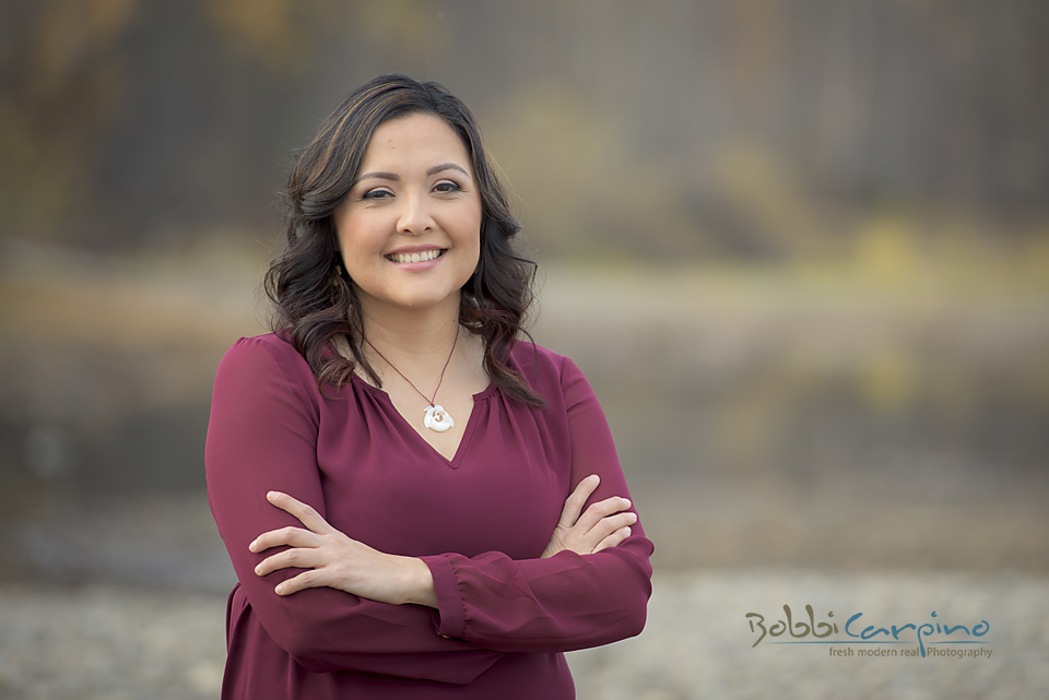 Janine Sampson, Master of Arts specializing in First Nations Studies.