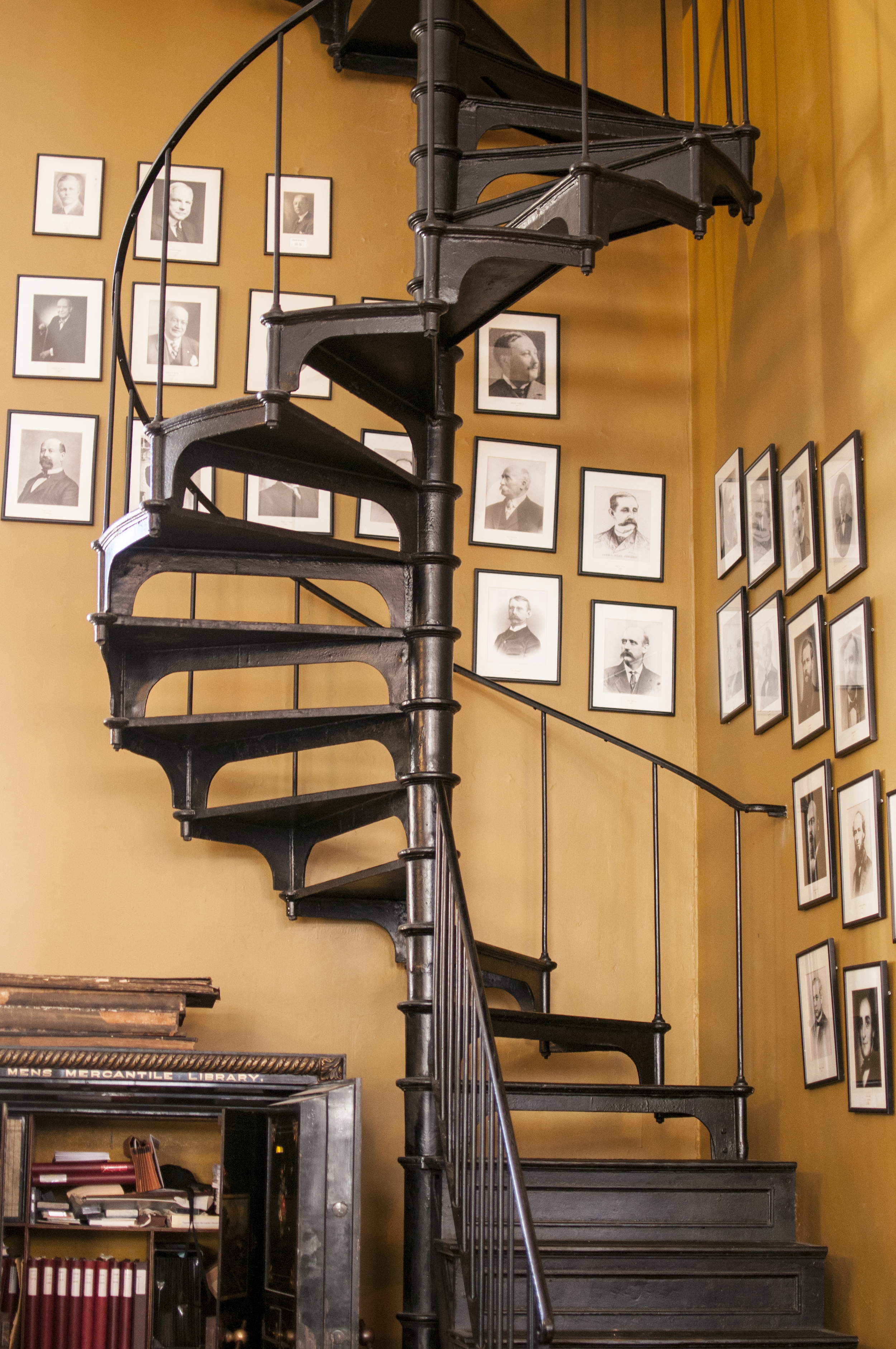 The spiral staircase to the 12th floor