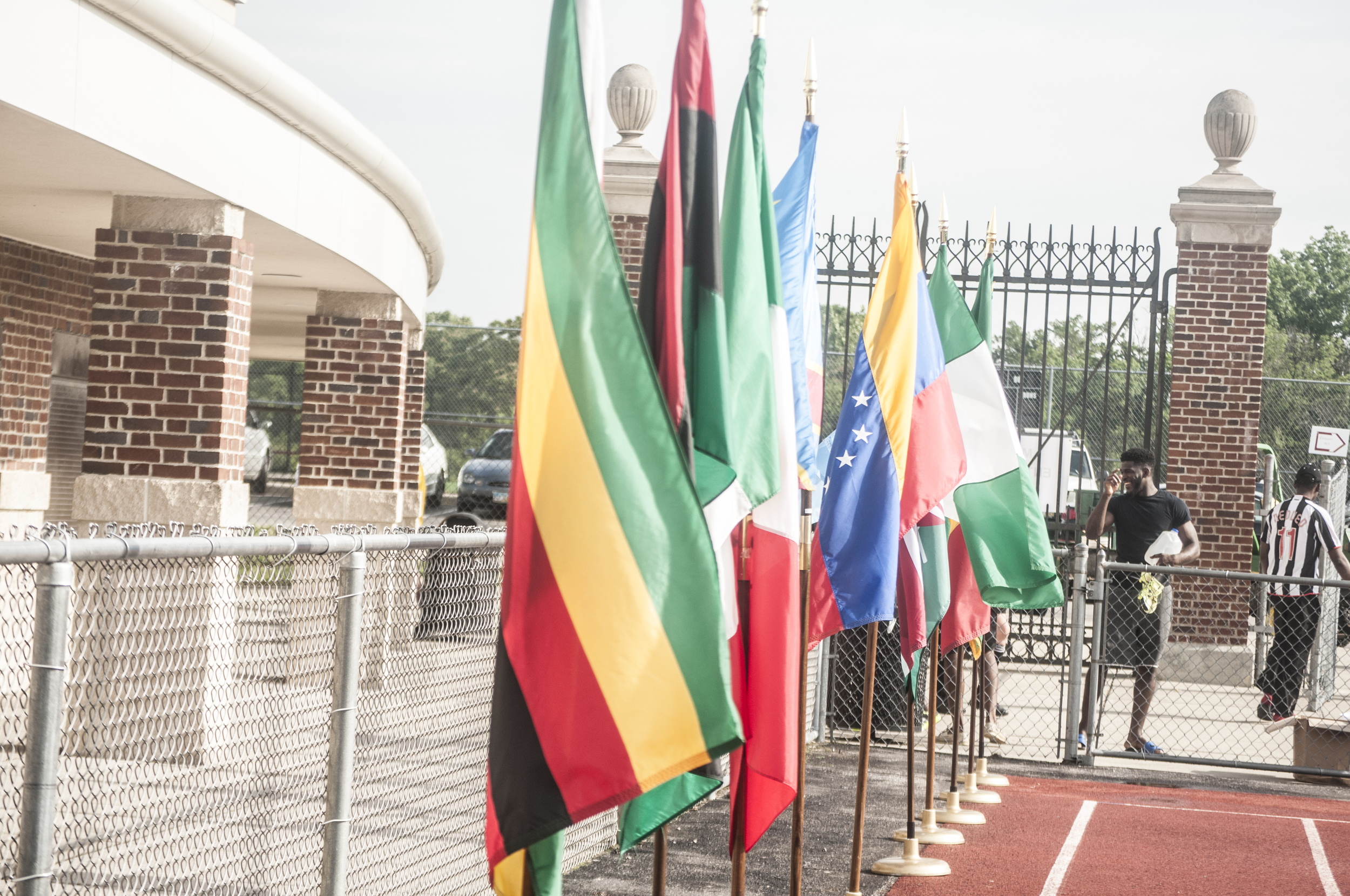 Line of the flags.