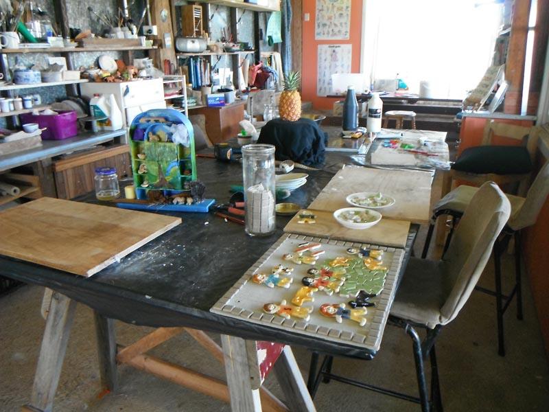 The studio space at Fairy Wren Farm