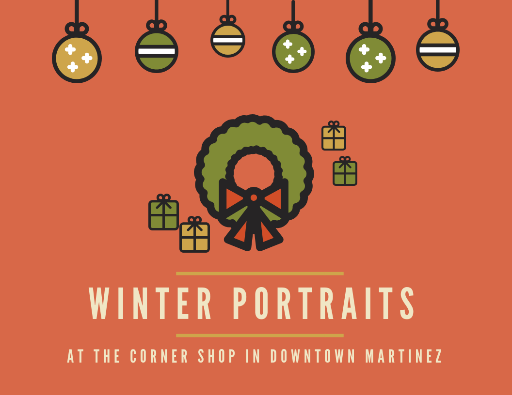Downtown Martinez Christmas Portraits
