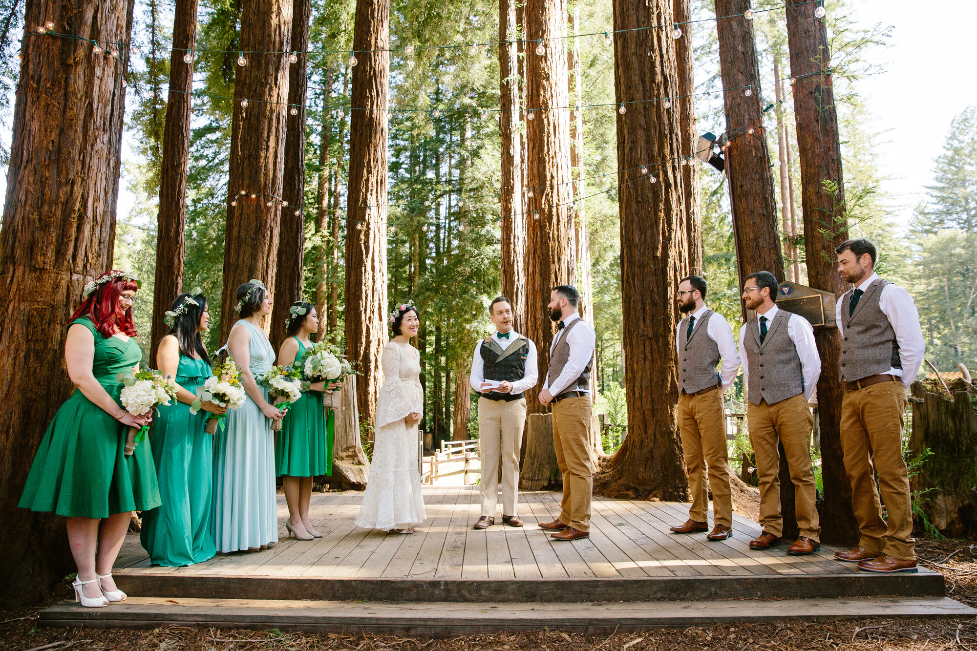 Redwoods Grove California Wedding