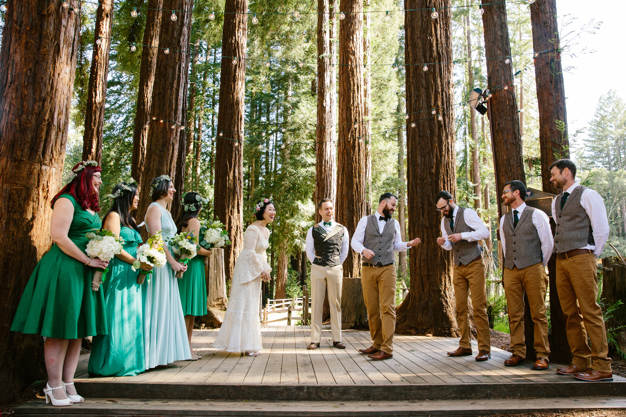 Wedding in Redwood Trees California