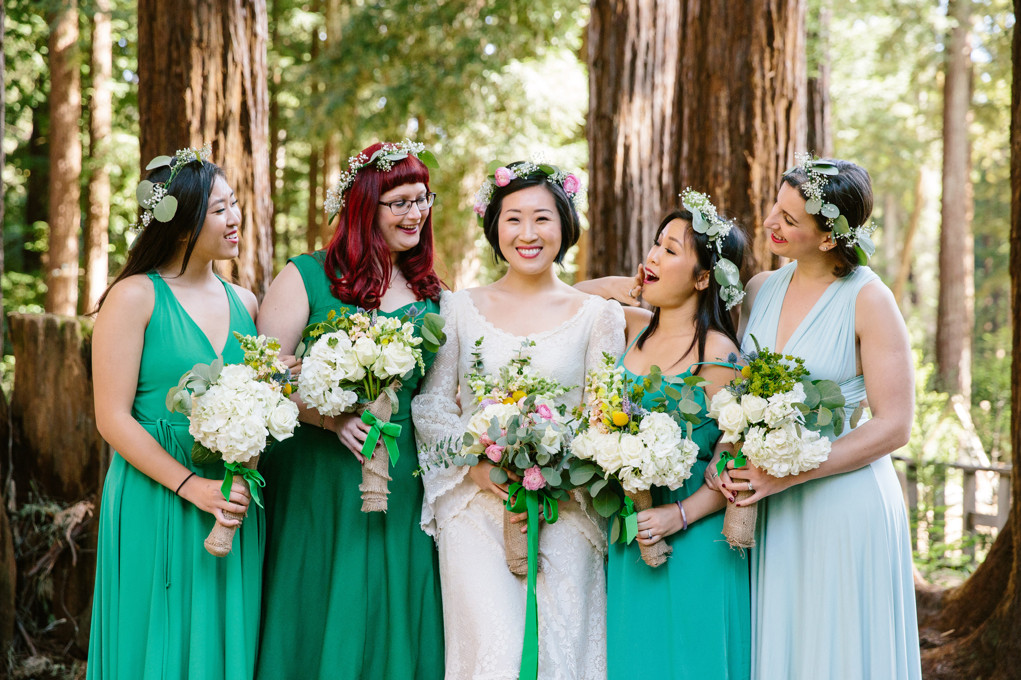 Bridal Party in Green