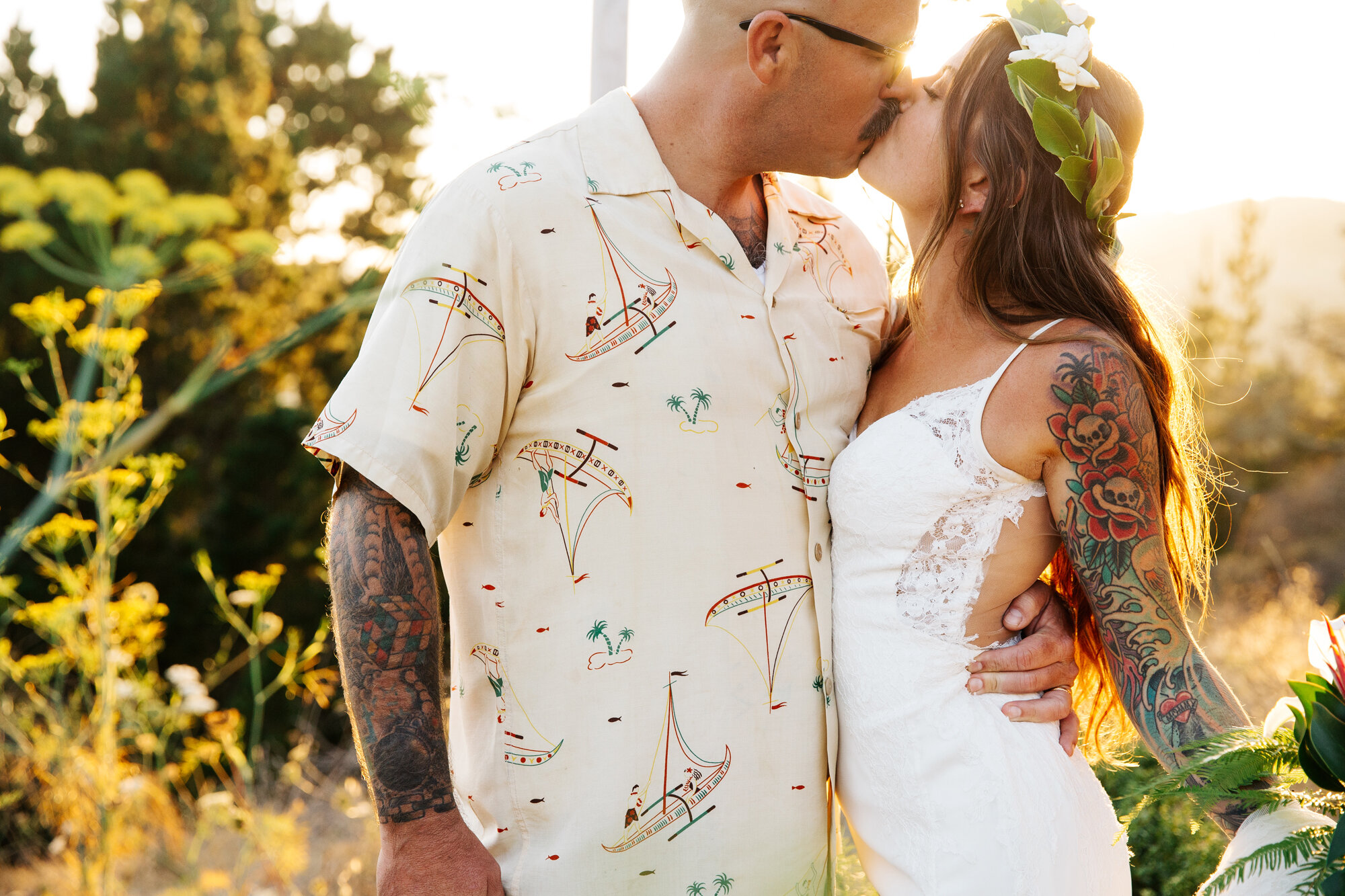 California Tiki Wedding at Shelldance Orchid Gardens