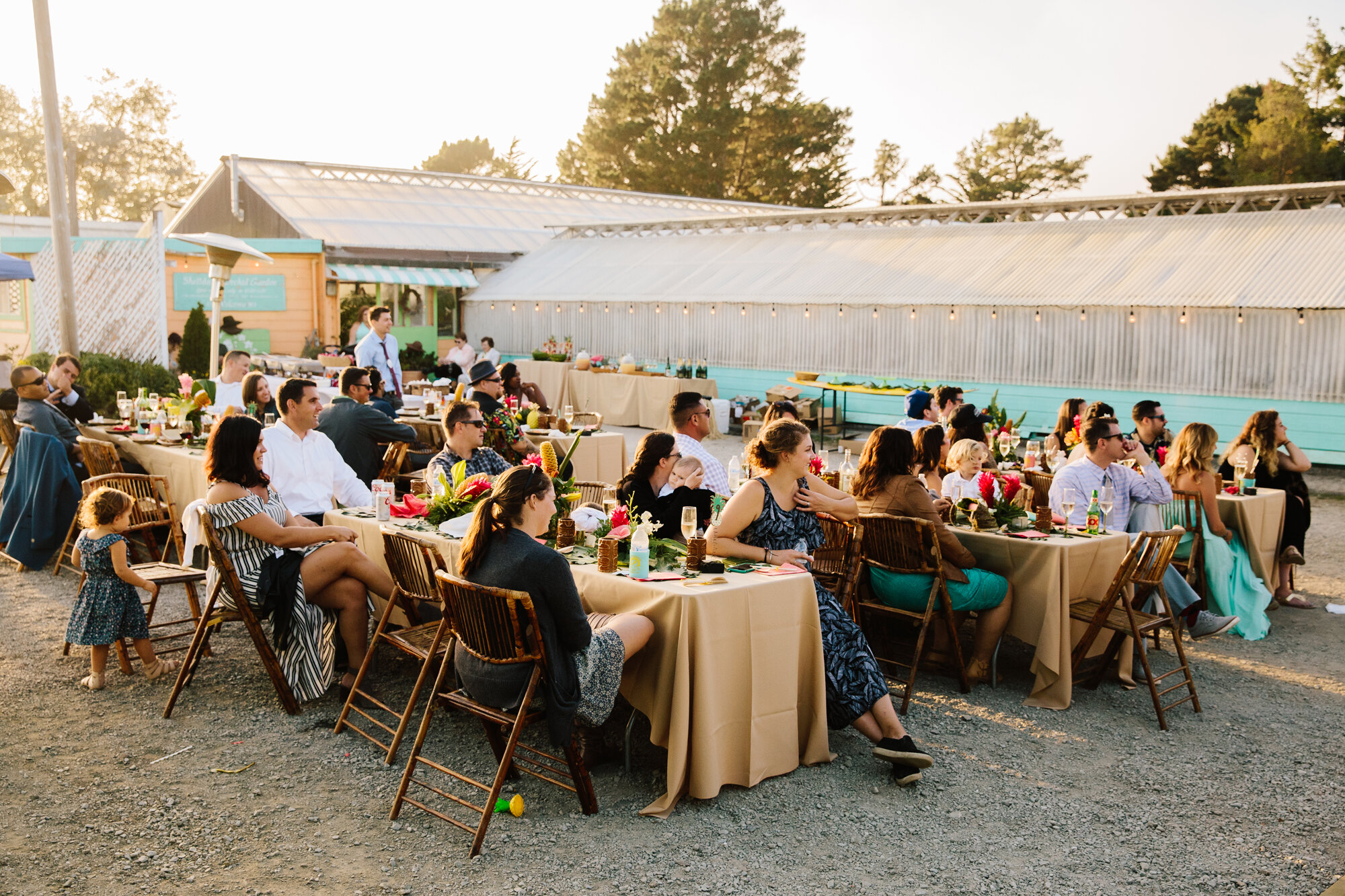 California Tiki Wedding Reception