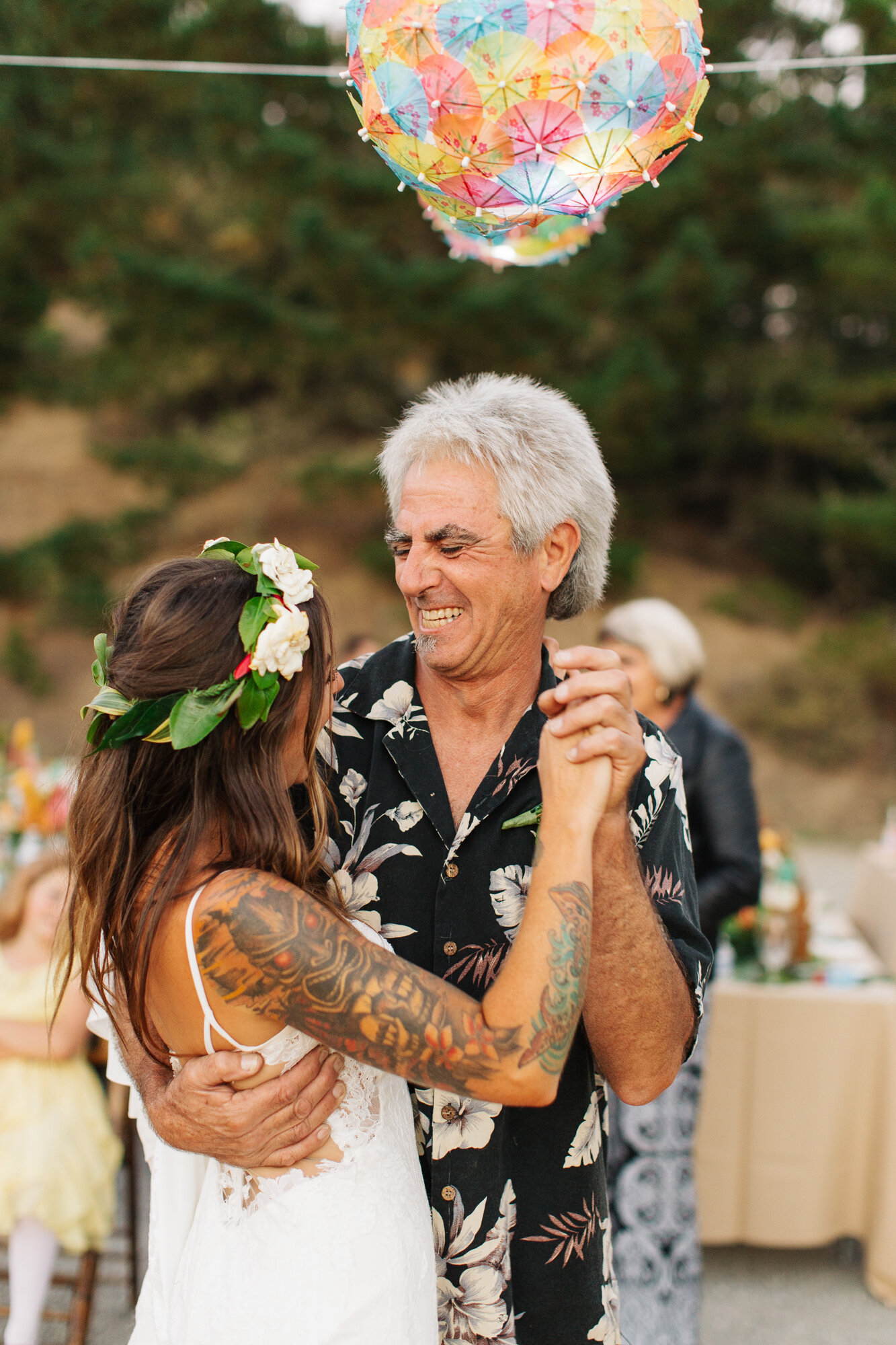 California Tiki Wedding Reception Father Daughter Dance
