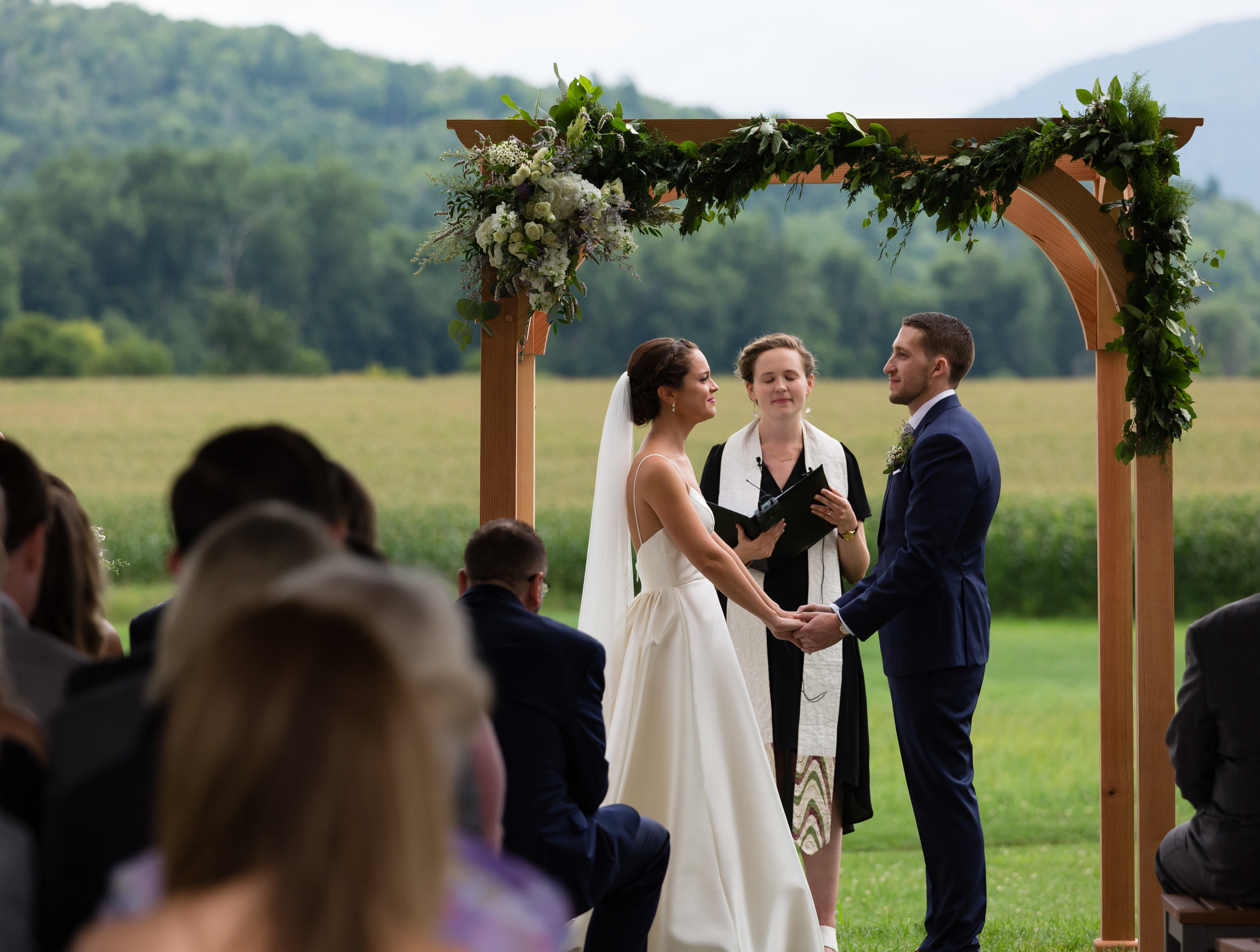 Wedding Ceremony Photography at Boyden Farms Vermont