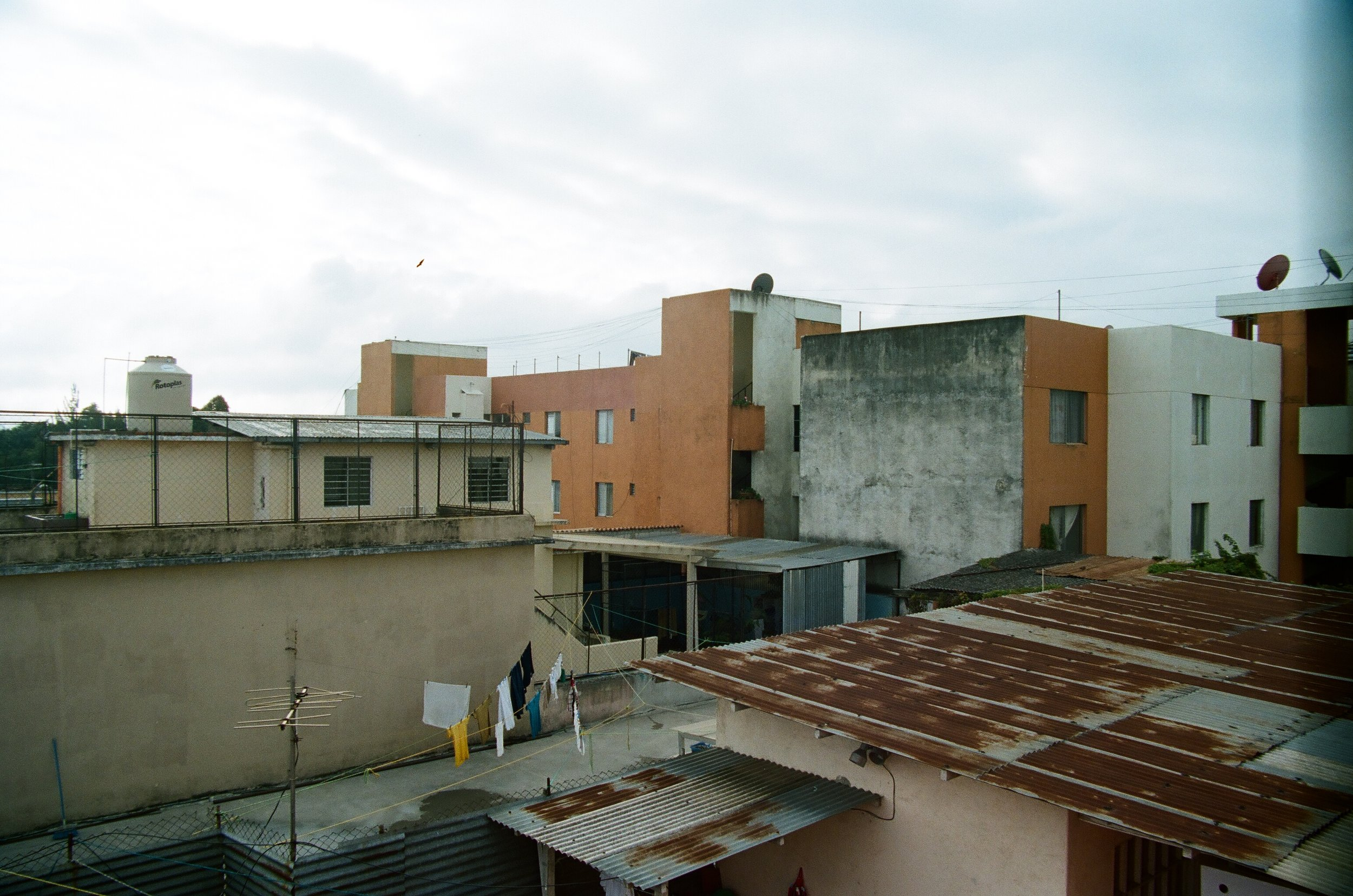 Our view from our amazing hostel in Guatemala City