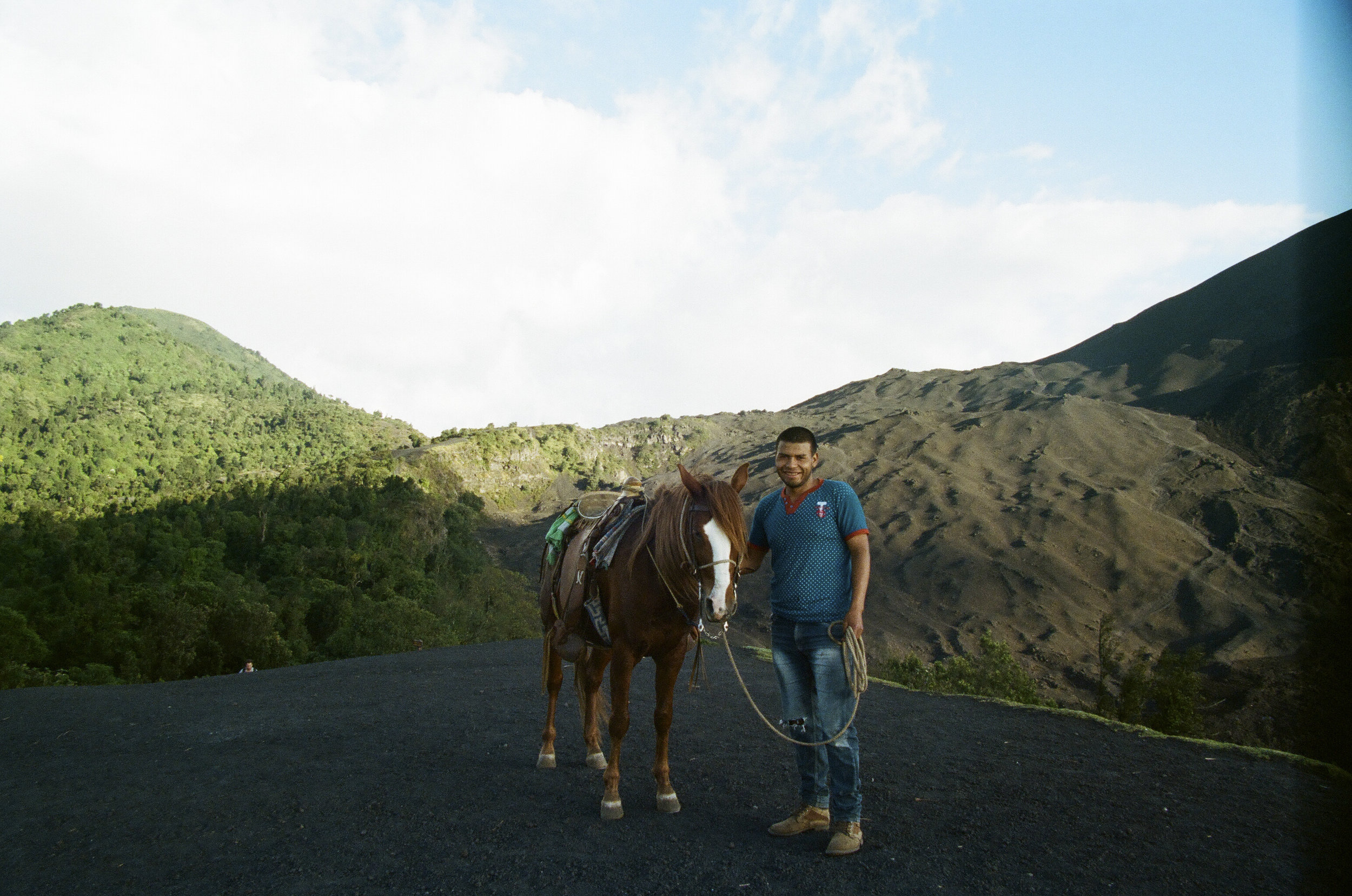 My guide and the sweetest horse. All of my friends know that I am terrified of horses. So, this was a big feat for me.