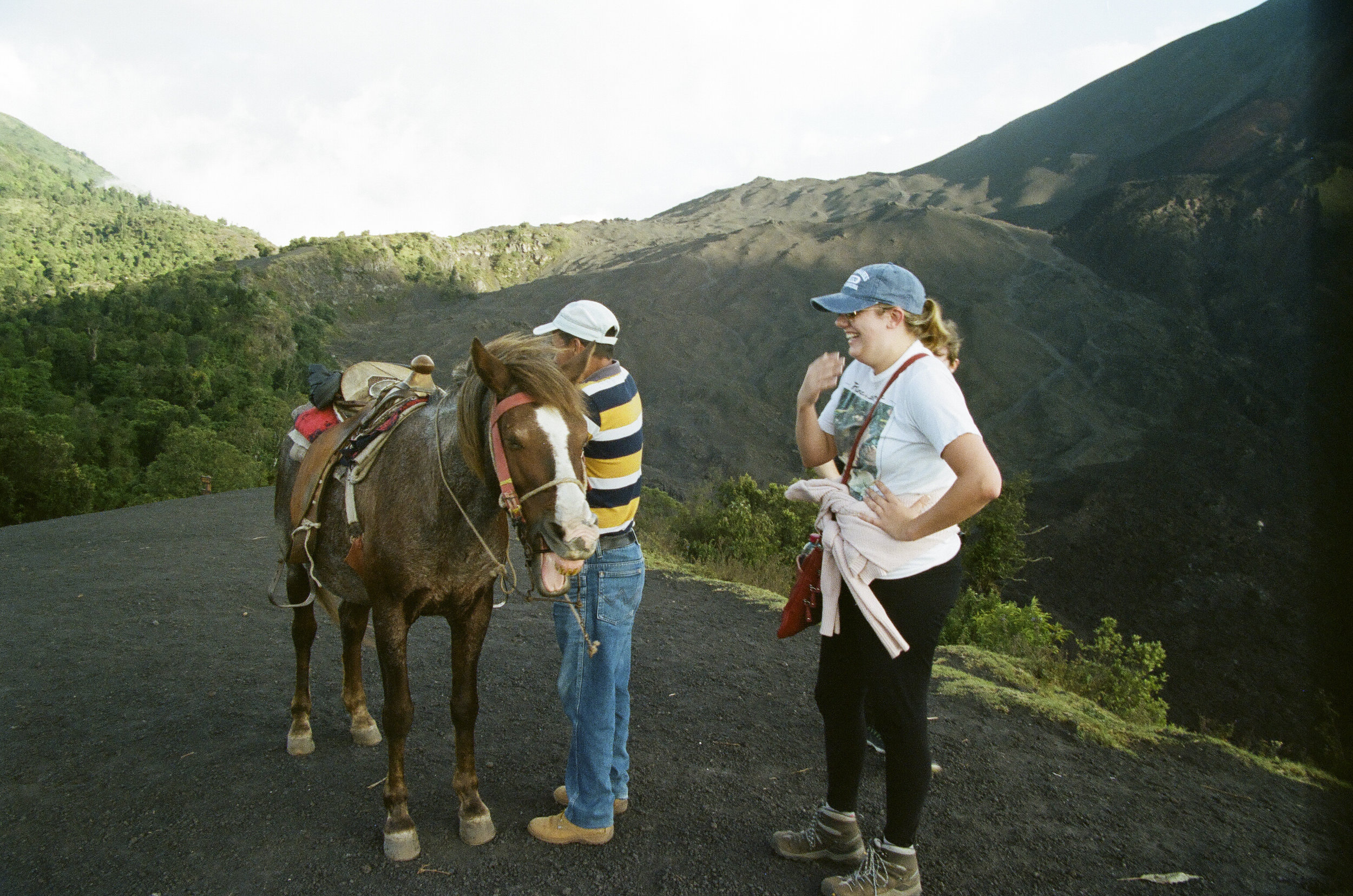 Lots of laughs all around when Ashton couldn't get off her horse and ended up being cradled in her guide's arms.
