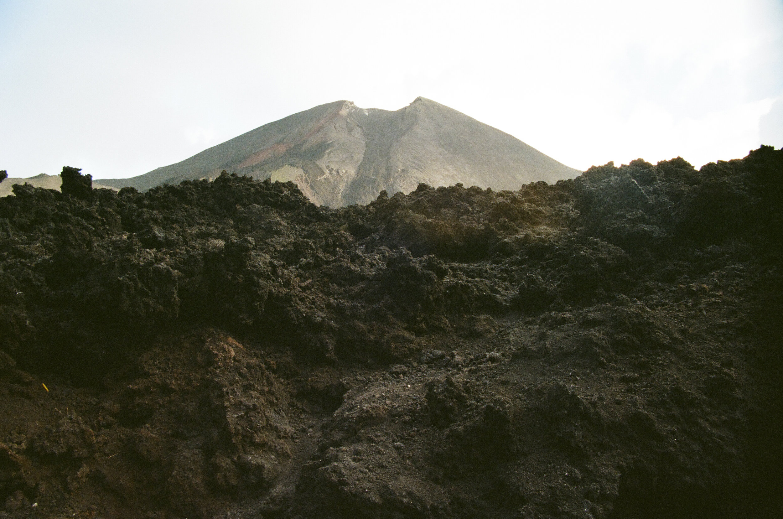 Layers of lava rock
