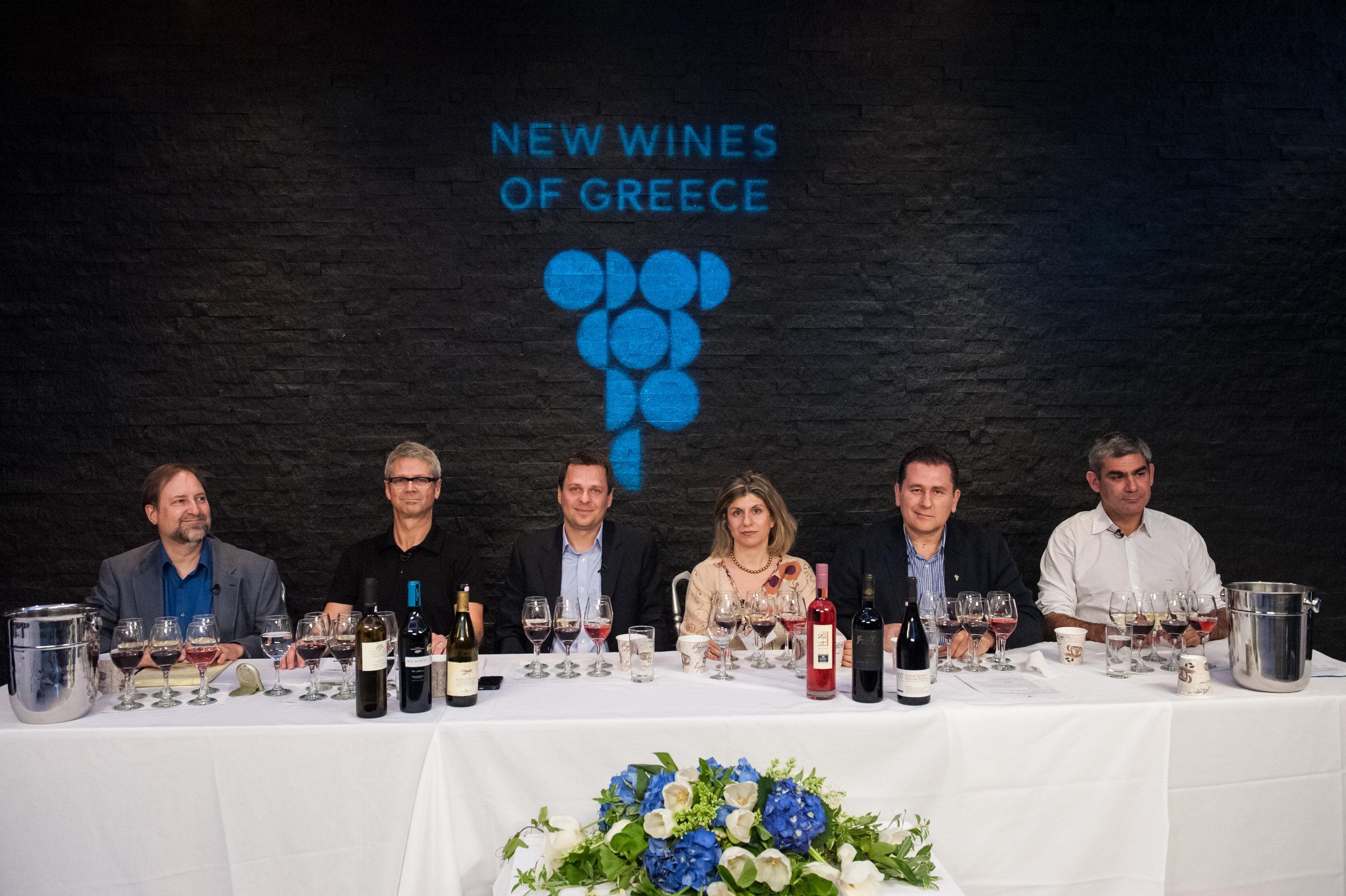 live webinar at wines of Greece trade & media tasting in NYC